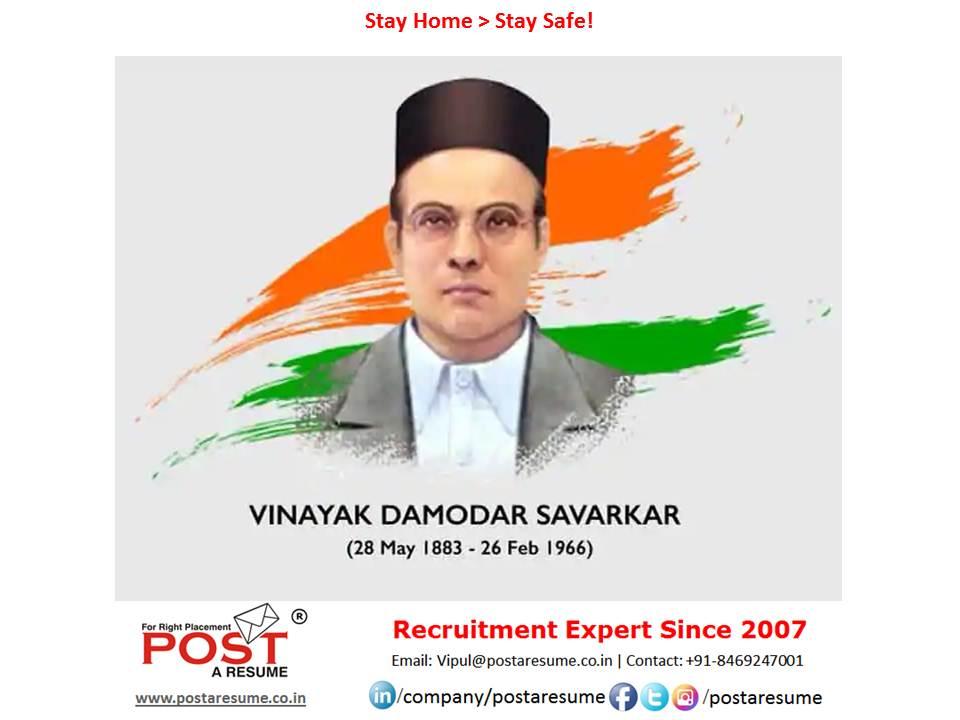 Vir Savarkar Jayanti, post a resume
